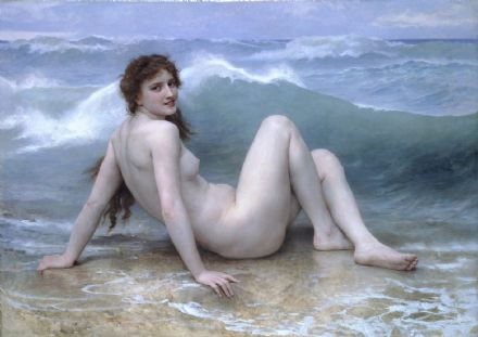 Bouguereau, William Adolphe: The Wave. Fine Art Print/Poster. Sizes: A4/A3/A2/A1 (00443)